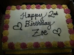 Zoe's Birthday cake
